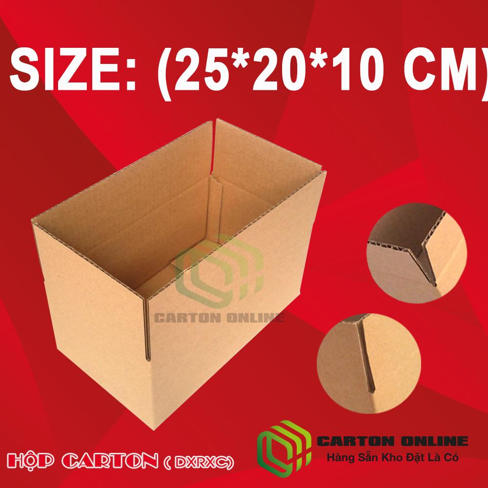 Thùng Carton 25x20x10 - Hộp Carton Giá Rẻ