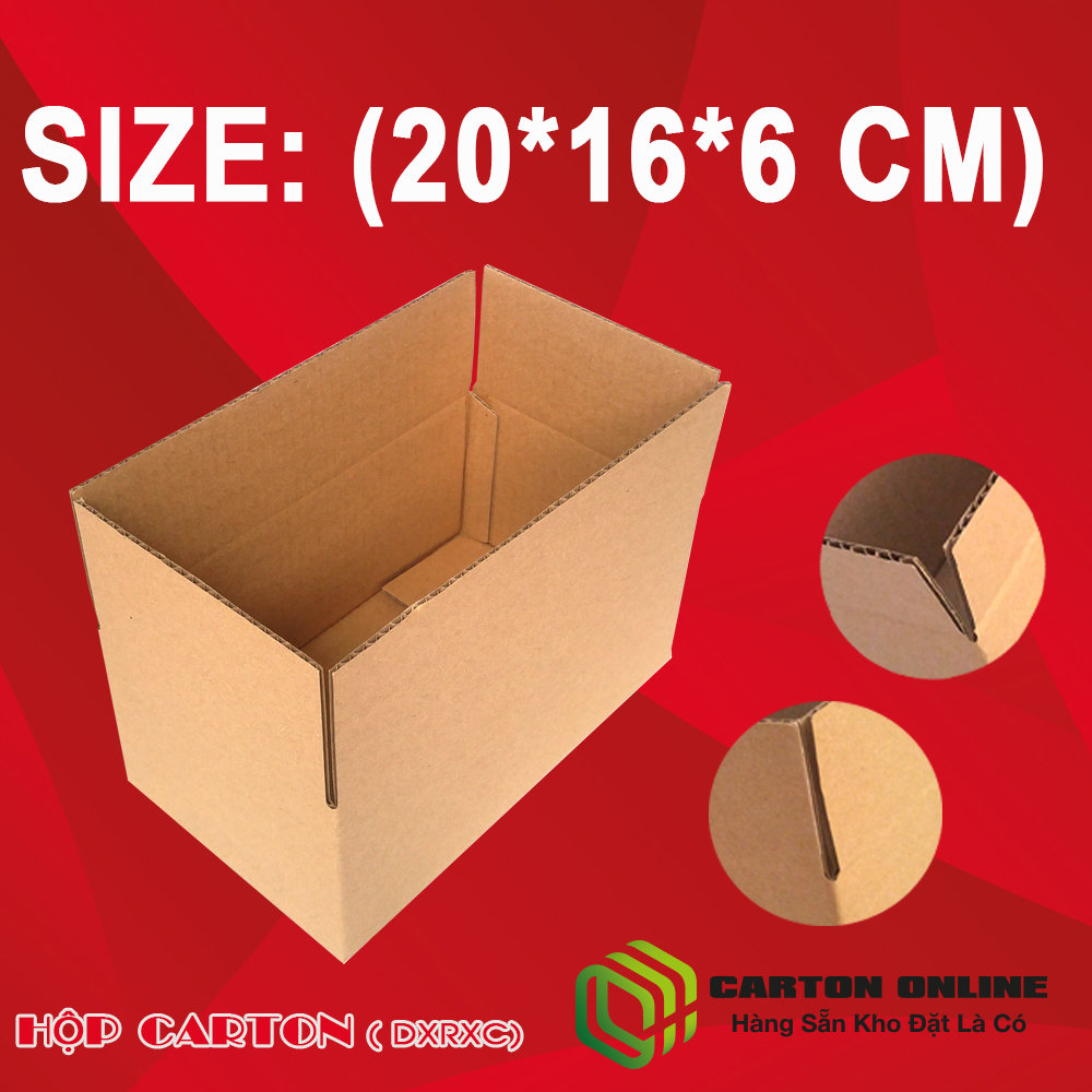 Thùng Carton 20x16x6 - Hộp Carton Giá Rẻ