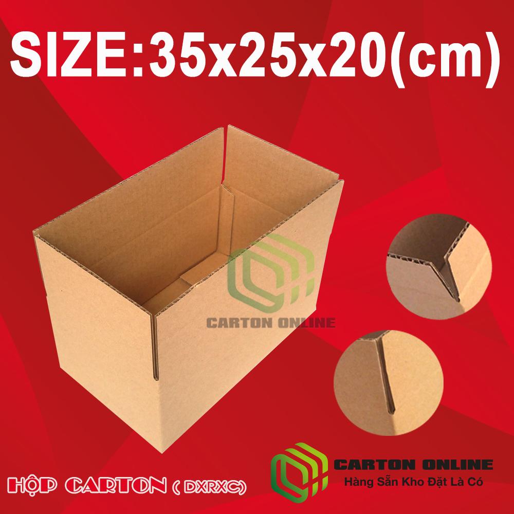 Thùng Carton 35x25x20 - Hộp Carton Giá Rẻ