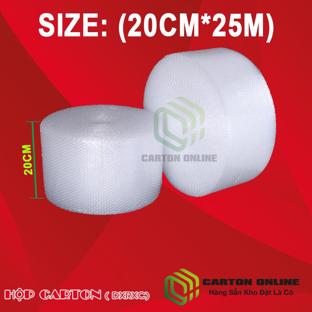 (20cm-25m)Cuộn Bong Bóng Khí - Màng xốp hơi - Xốp nổ - gói hàng chống sốc