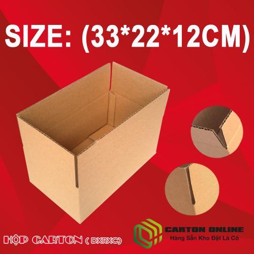 Thùng Carton 33x22x12 - Hộp Carton Giá Rẻ