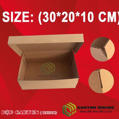 Thùng Carton 30X20X10 - Hộp Carton Giá Rẻ - Hộp Giày