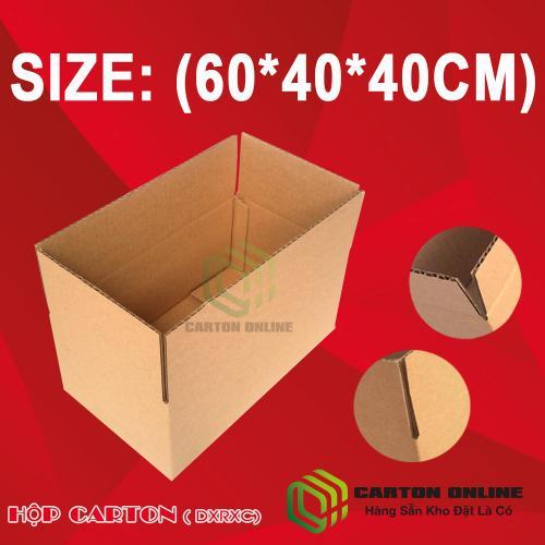 Thùng Carton 60x40x40 - Hộp Carton Giá Rẻ (5 lớp)