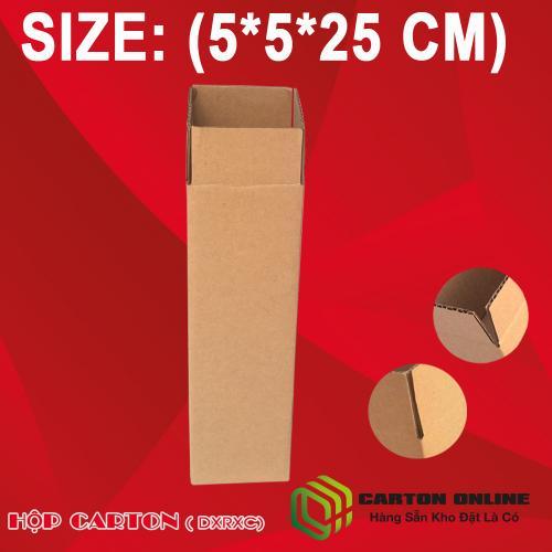 Thùng Carton 5x5x25 - Hộp Carton Giá Rẻ