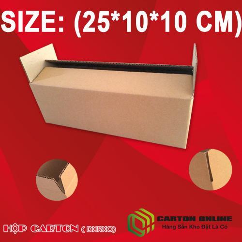Thùng Carton 25x10x10 - Hộp Carton Giá Rẻ