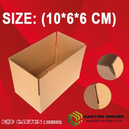 Thùng Carton 10x6x6 - Hộp Carton Giá Rẻ