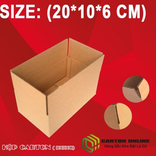 Thùng Carton 20x10x6 - Hộp Carton Giá Rẻ