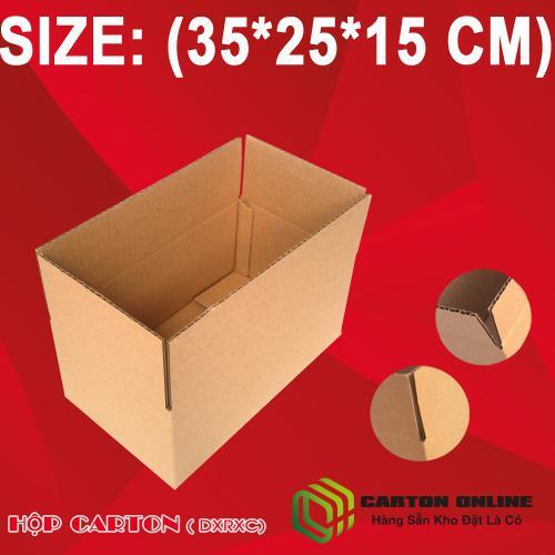 Thùng Carton 35x25x15 - Hộp Carton Giá Rẻ